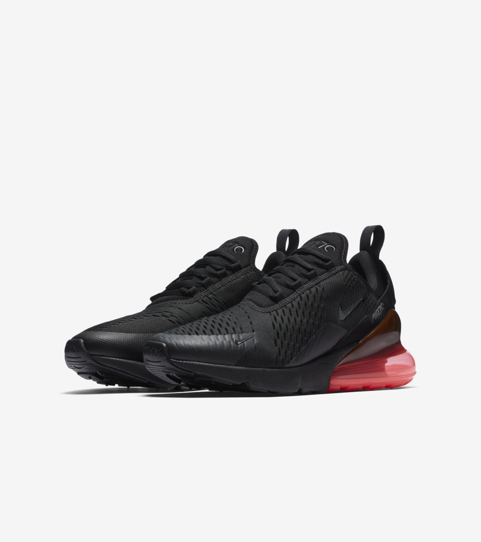 watch feedf 78f41 Nike Air Max 270 'Black & Hot Punch' Release Date. Nike ...