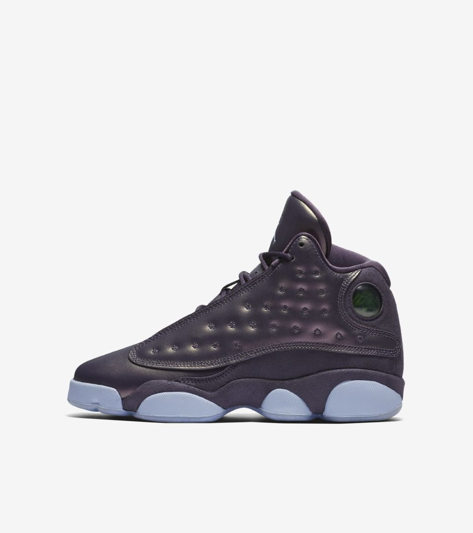 8e59e98cc9a Air Jordan 13 GG Heiress 'Dark Raisin & Hydrogen Blue' Release Date ...