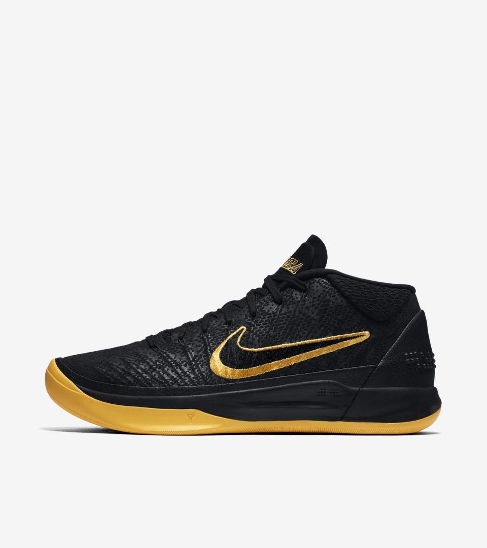 439d9b48cc8c Nike Kobe AD  Black   University Gold  Release Date. Nike+ SNKRS