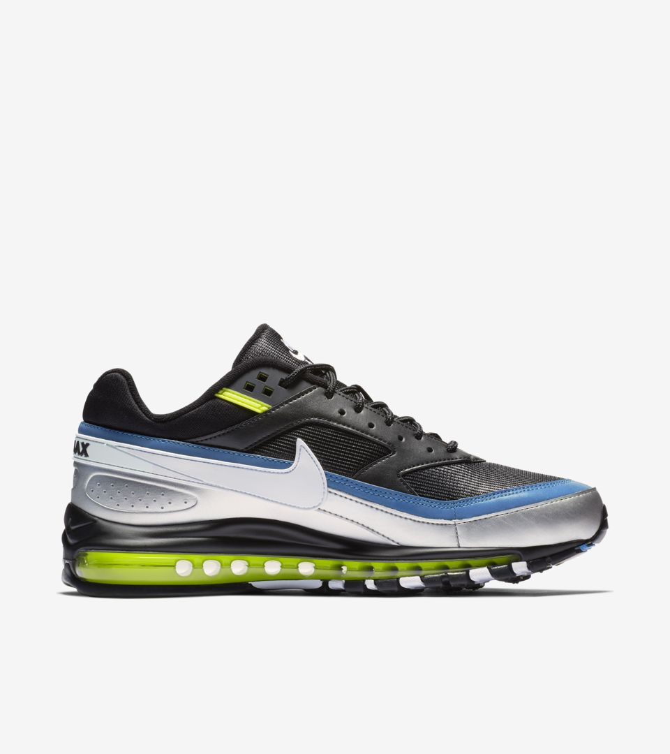 cheaper 3659d a8879 ... Nike Air Max 97 BW  Black   Metallic Silver   Atlantic Blue  ...