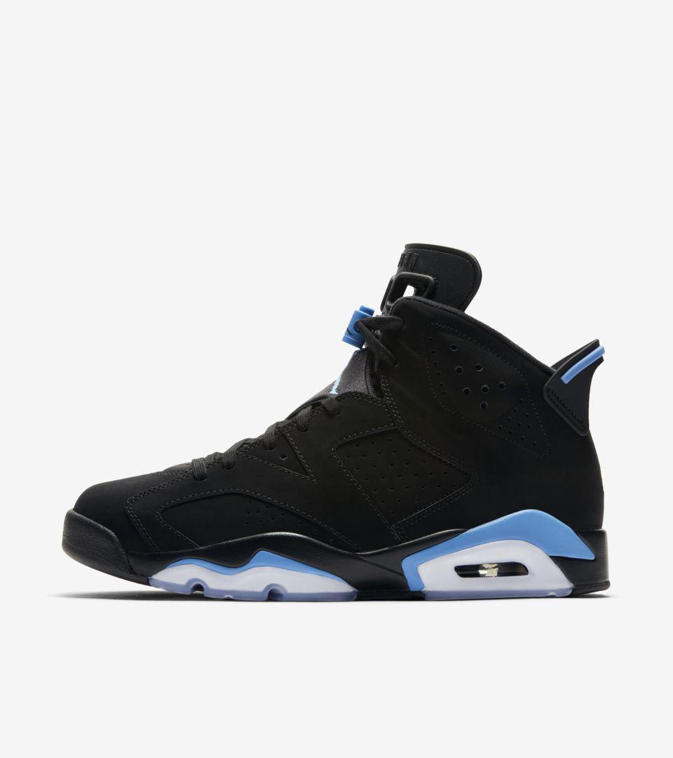 buy popular 3f347 307d0 Air Jordan 6 'Black & University Blue' Release Date. Nike+ ...