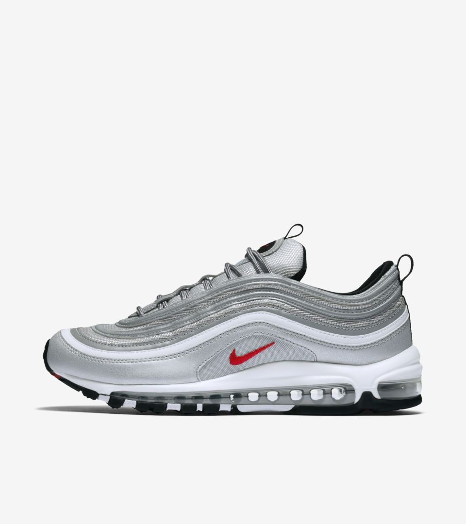 Nike Air Max 97 OG 'Metallic Silver'. Nike⁠Plus SNKRS