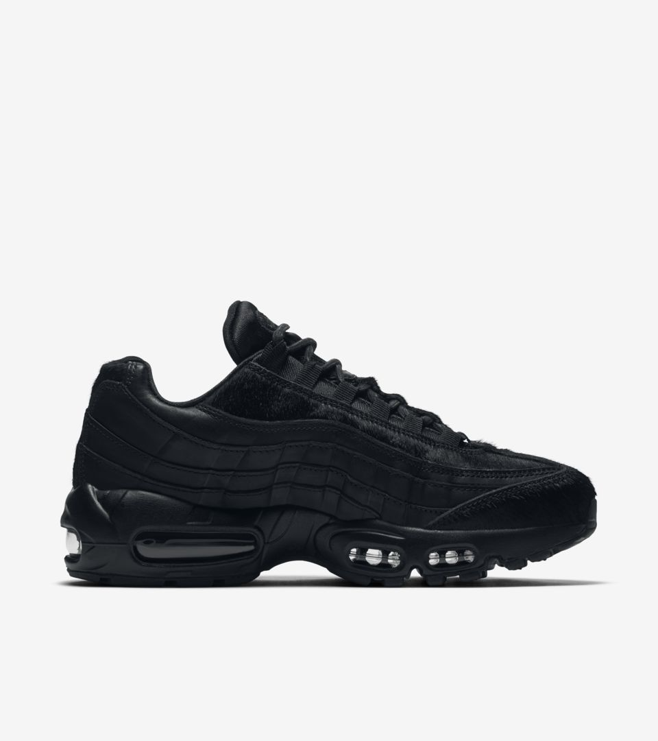 Women s Nike Air Max 95 Premium  Triple Black  2016. Nike⁠+ SNKRS 2275a56f4