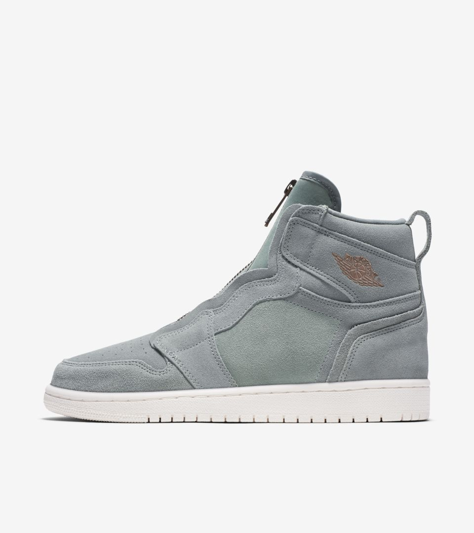 d871266db18a Women s Air Jordan 1 High Zip  Mica Green   Sail  Release Date. Nike ...