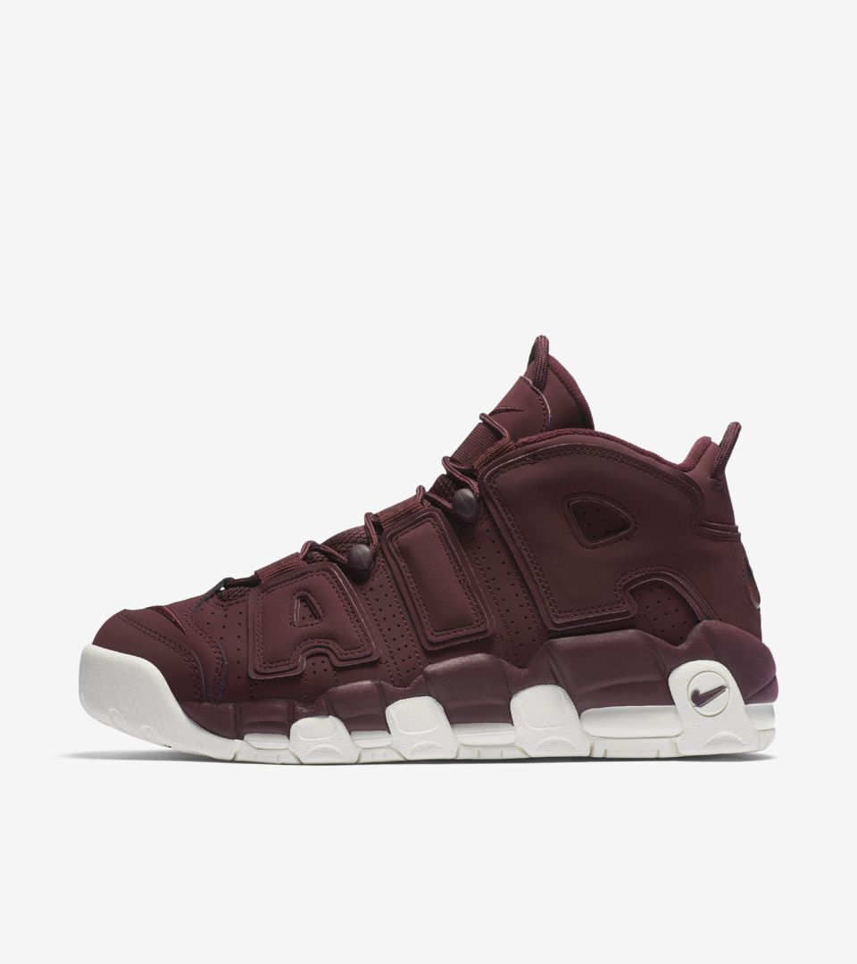 nike air more uptempo night maroon nike snkrs
