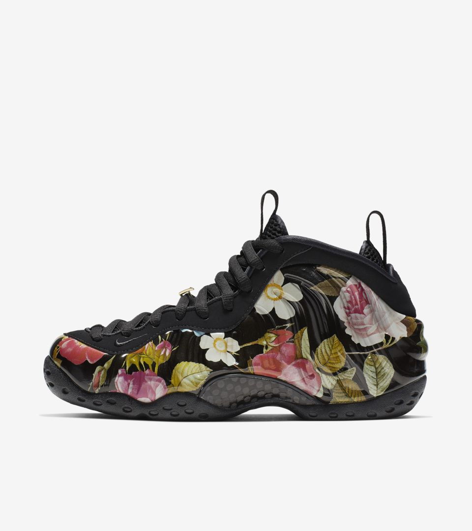 4cee310be49 Women s Air Foamposite One  Floral   Black . Nike⁠+ SNKRS