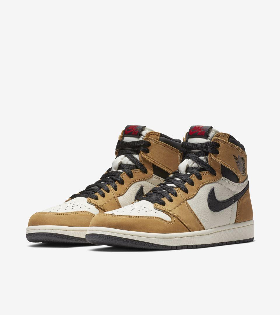 0105dfe757b062 Air Jordan 1 High  Golden Harvest   Sail   Black  Release Date. Nike ...
