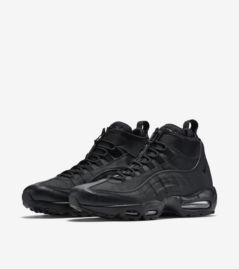 new arrivals 85cdd 86bfb Nike Air Max 95 Sneakerboot 'Triple Black'. Nike⁠+ SNKRS
