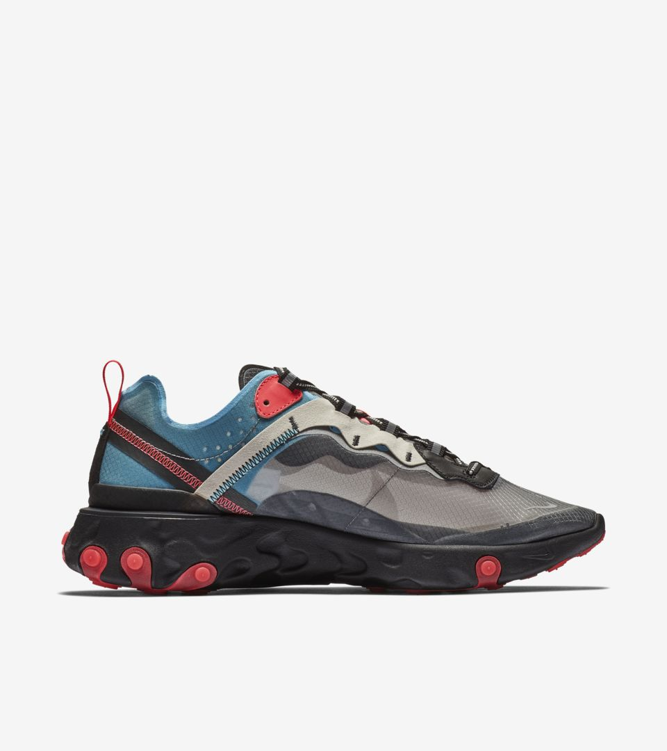 6e9dae997cc7f Nike React Element 87  Solar Red   Black   Blue Chill  Release Date ...