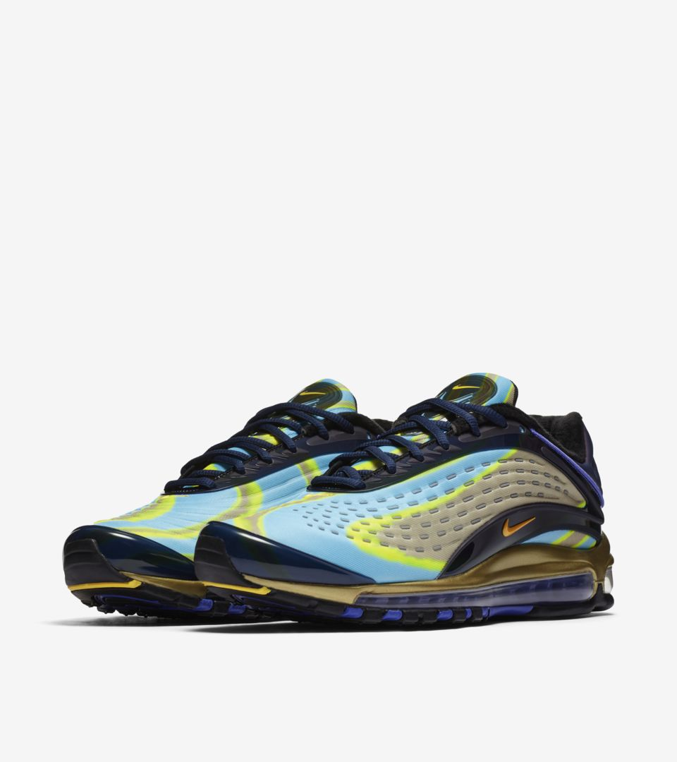 65e26b951a8 ... Nike Air Max Deluxe  Midnight Navy   Laser Orange   Persian Violet  ...