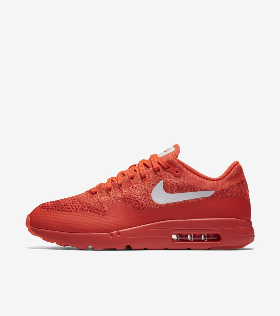 Nike Air Max 1 Ultra Flyknit Womens Bright Crimson
