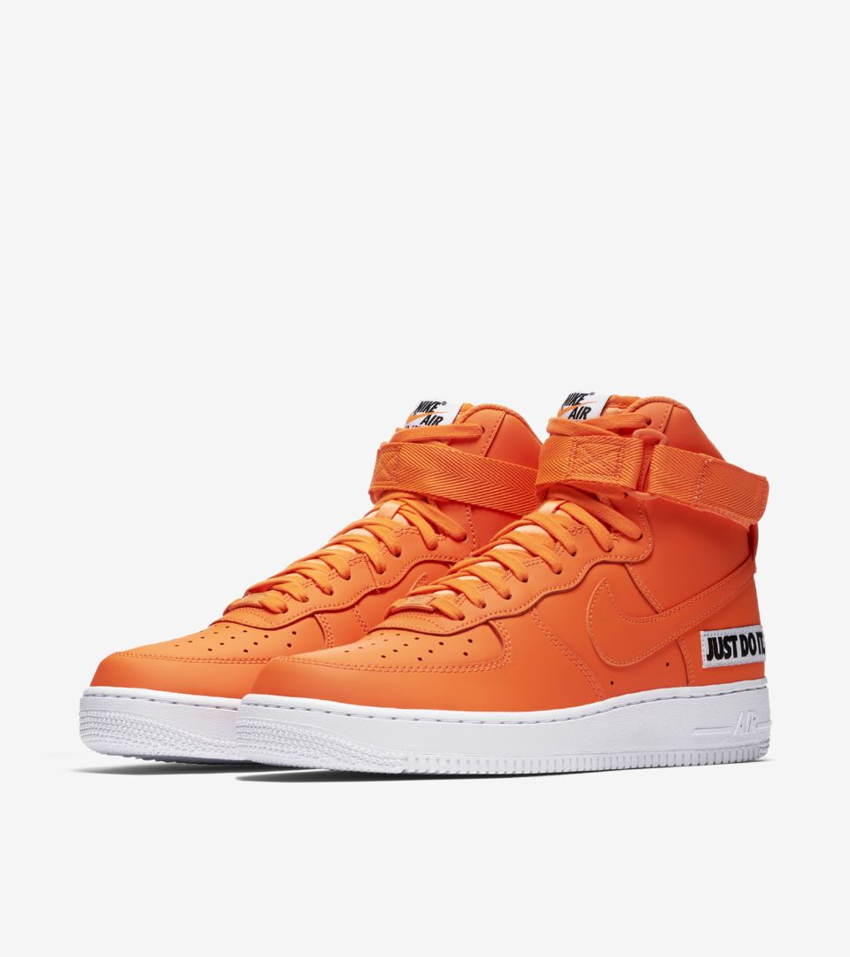 promo code 89104 15b74 Nike Air Force 1 High JDI Collection  Total Orange   White  ...
