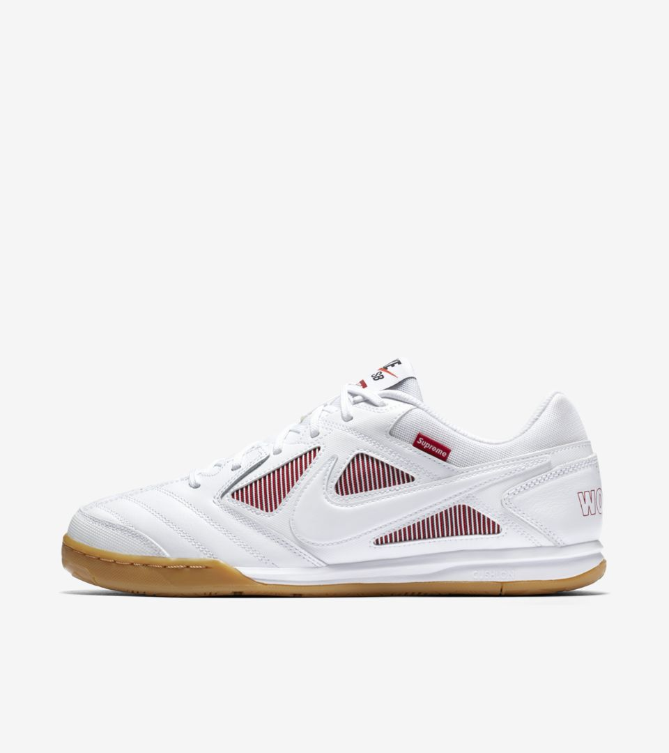 a26b8406157fe Nike Sb Gato QS Supreme 'White & Gym Red' Release Date. Nike⁠+ SNKRS