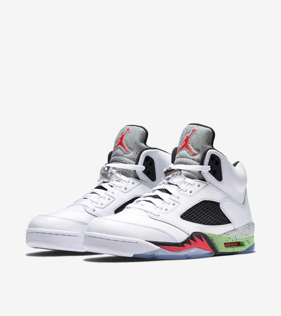 best authentic a444d 2ddbe ireland nike air jordan 5 retro poison green the sole supplier 8413f ac19a   real air jordan v 77fdb a06a9