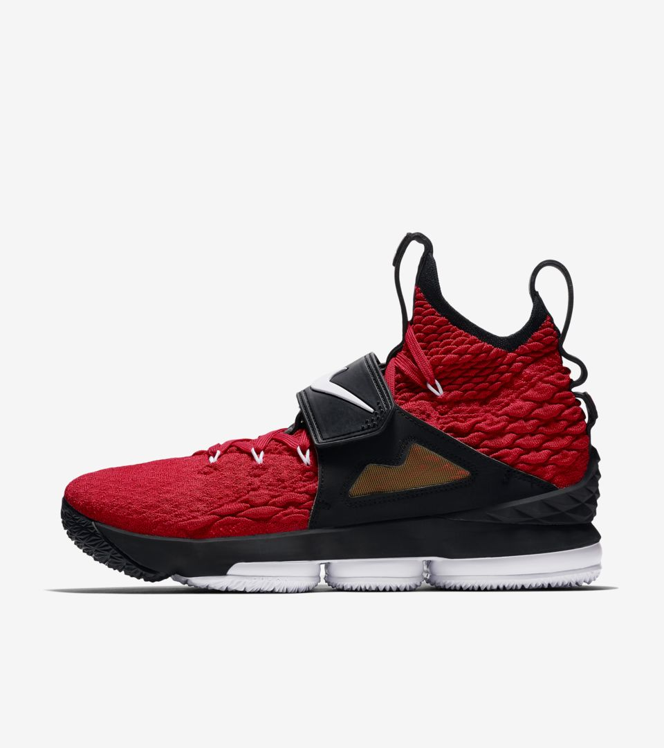 huge selection of f1c36 ff512 Lebron 15 'University Red' Release Date. Nike+ SNKRS