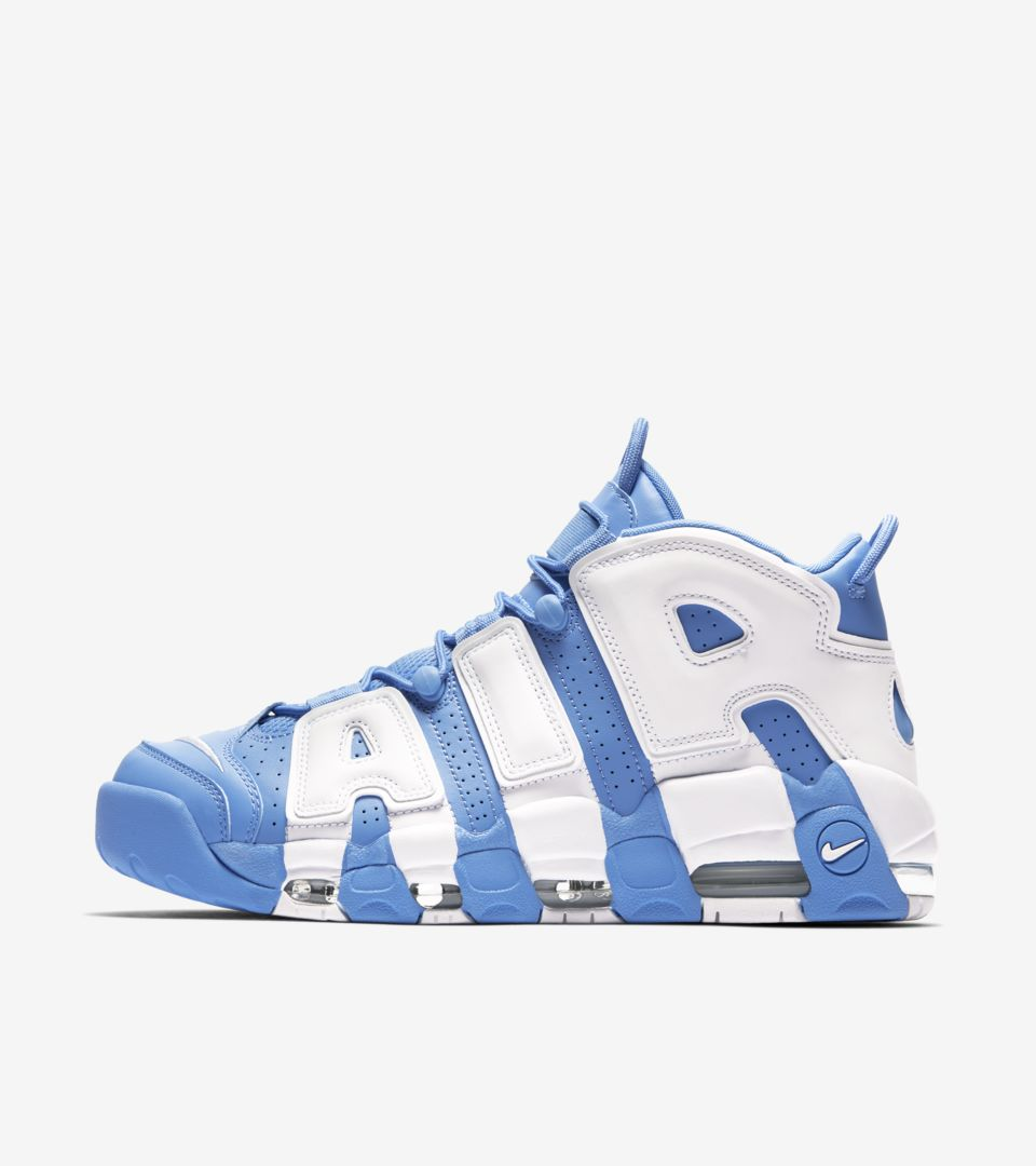 43095a2a9136f Nike Air More Uptempo  96  University Blue   White . Nike⁠+ SNKRS