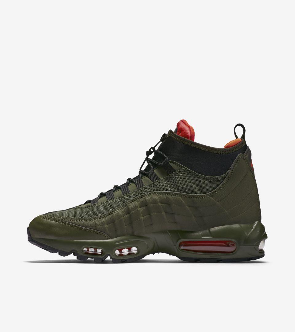 Nike Air Max 95 Sneakerboot  Dark Loden   Cargo Khaki . Nike+ SNKRS 811287580e