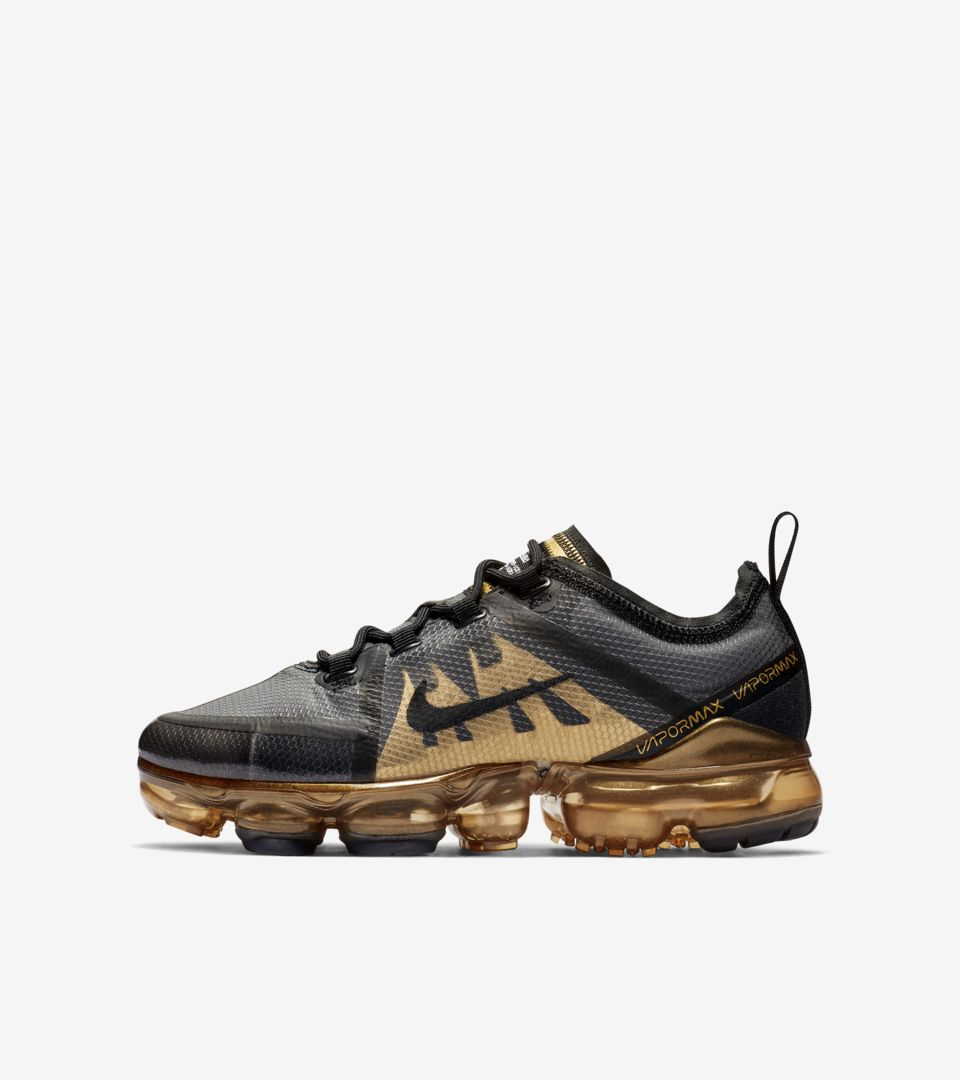 new product 0b586 e9a3d Nike Air Vapormax 2019 'Black & Metallic Gold' Release Date ...