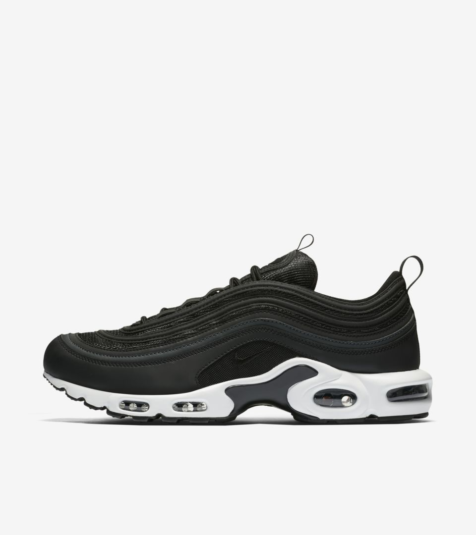 check out c533c 766ef Nike Air Max 97 Plus  Black  amp  White  Release Date. Nike+ Launch GB