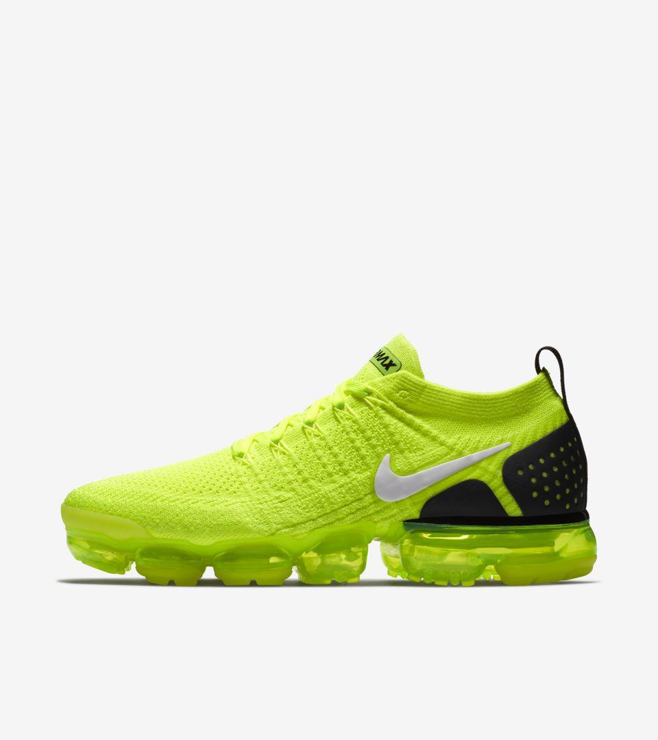 Nike Air Vapormax Flyknit 2  Volt   White   Black  Release Date ... 55e21c3c2