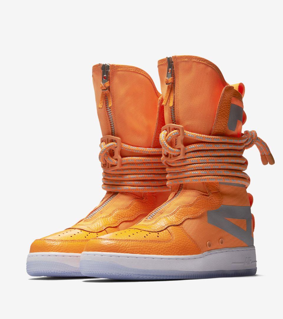 Nike SF AF 1 High 'Total Orange & White' Release Date