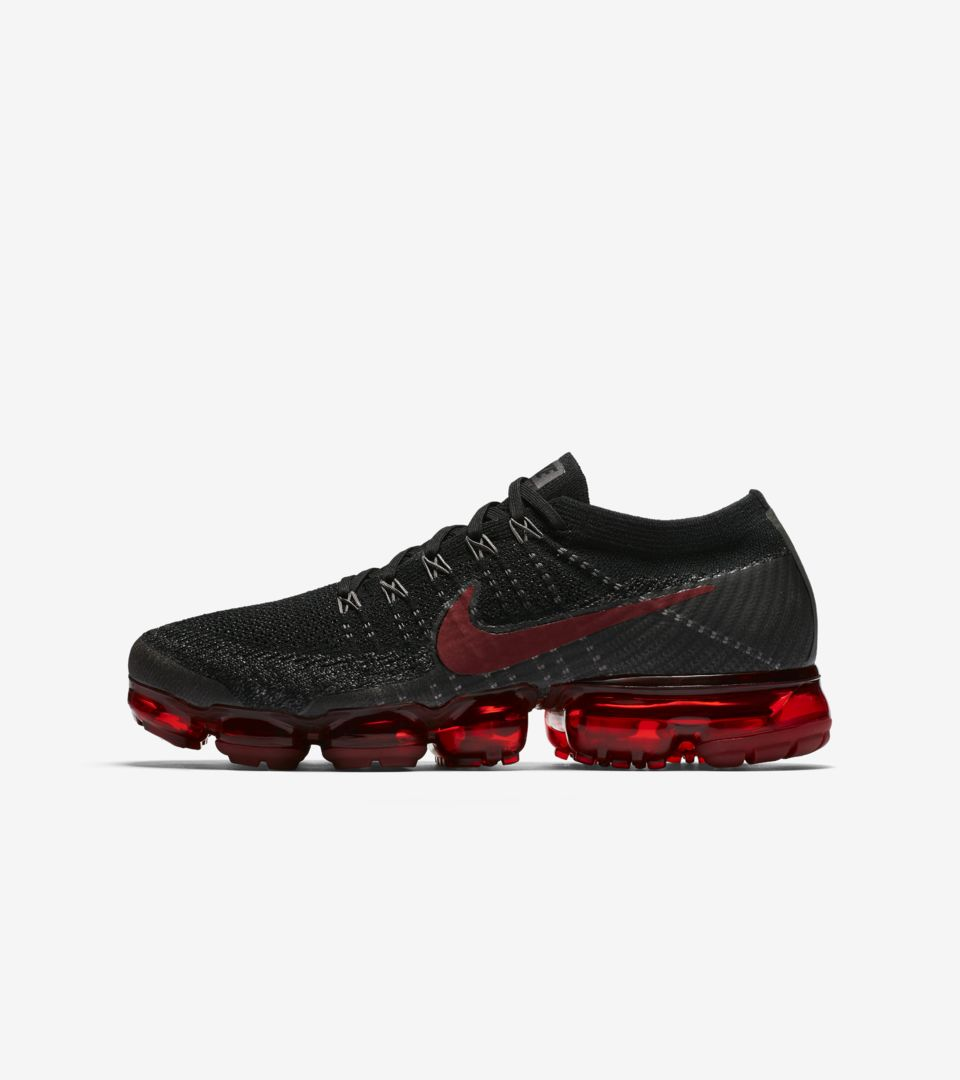 ee33218e68368 Nike Air VaporMax 'Black & Dark Team Red' Release Date. Nike⁠+ SNKRS
