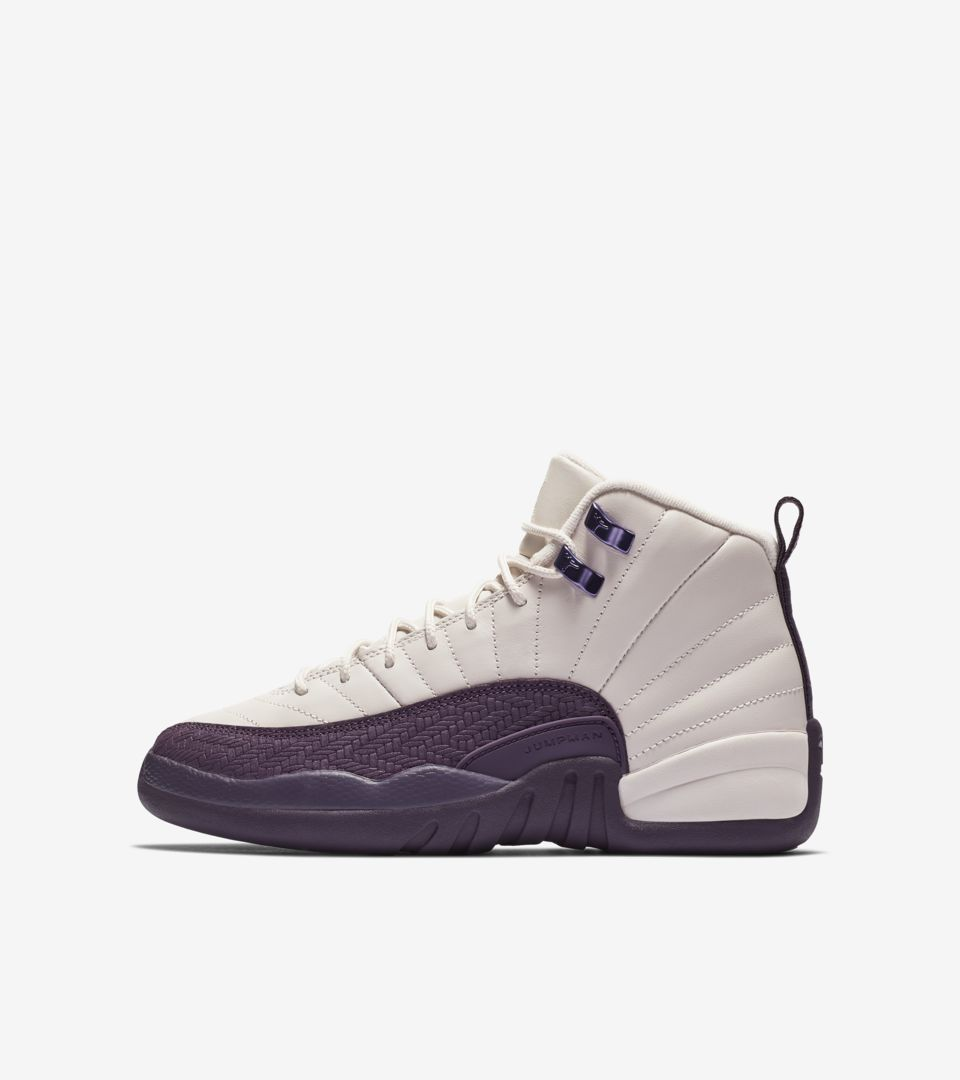 54416aa6235d98 Big Kids  Air Jordan 12 Retro  Desert Sand   Pro Purple   Light Artic ...