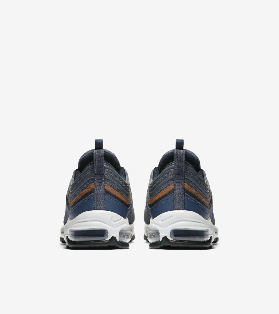 58a1df334a Nike Air Max 97 Premium 'Thunder Blue & Dark Obsidian' Release ...