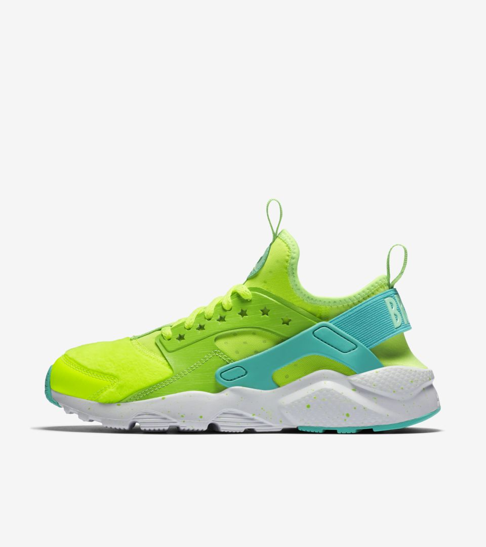 ffe2e388515f Women s Nike Air Huarache Ultra Doernbecher  Volt   Electric Green ...