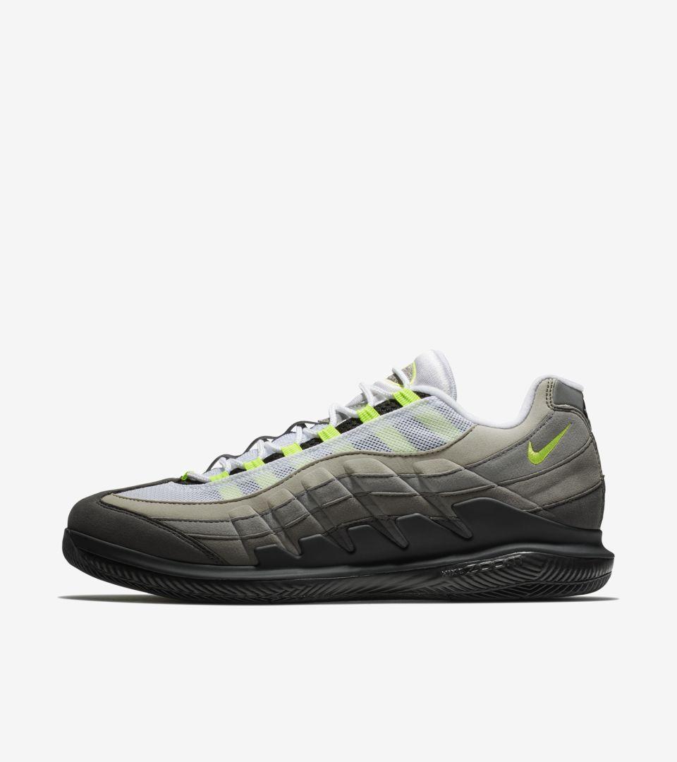 a50c69fbb3 NikeCourt Vapor RF x AM95 'Black & Volt' Release Date. Nike+ SNKRS