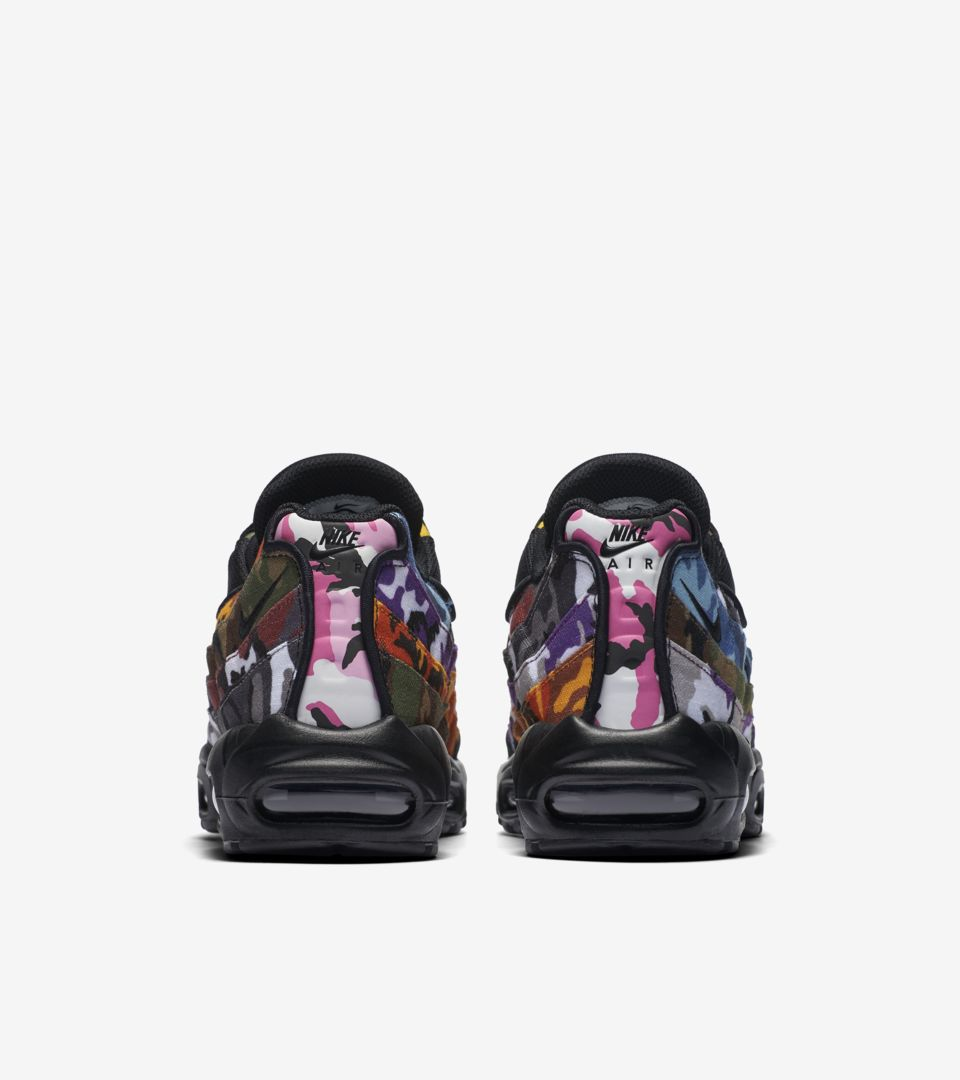 brand new e3cca 3a324 Nike Air Max 95 'Black & Multi-Color' Release Date. Nike⁠+ SNKRS
