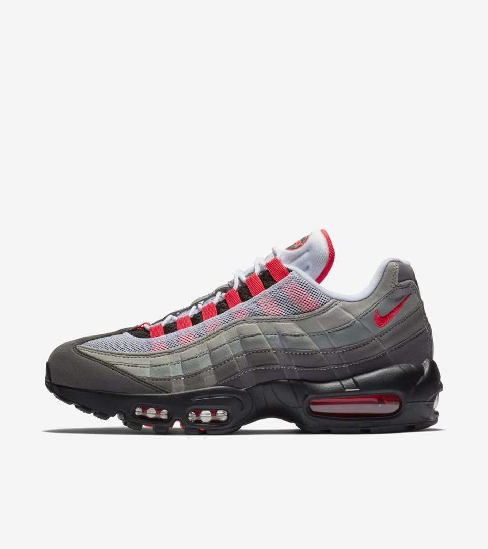 eeeffef4e5 Nike Air Max 95 'White & Solar Red & Granite' Release Date. Nike⁠+ SNKRS