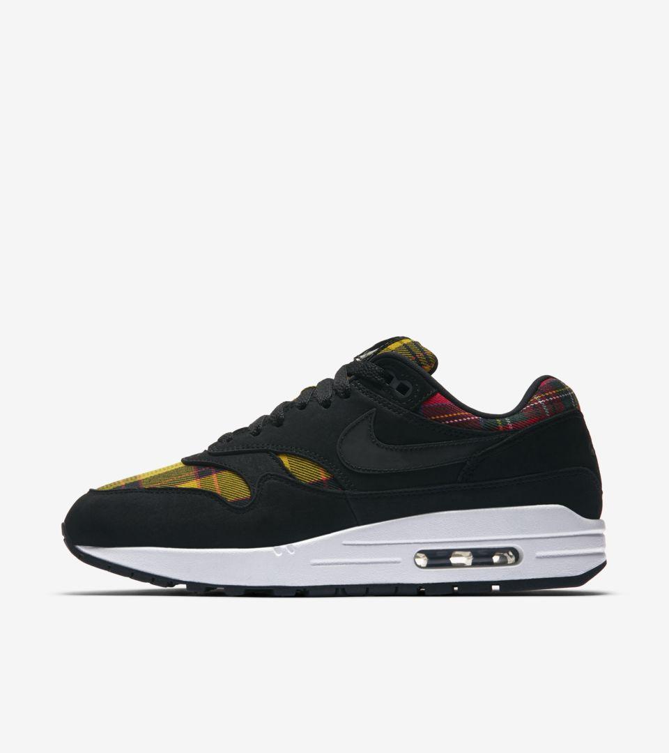 Nike Wmns Air Max 1 SE Tartan Pack Black Red Yellow Womens