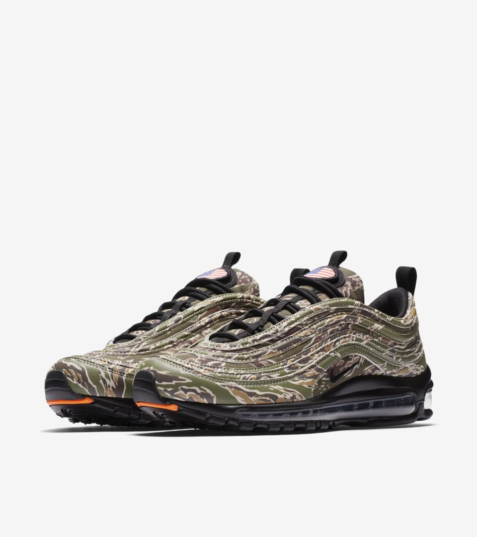 quality design 45277 61015 Nike Air Max 97 Premium Camo 'USA' Release Date. Nike⁠+ SNKRS