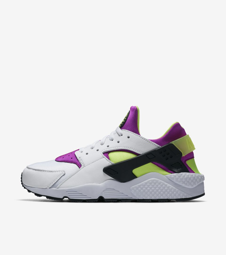 6e0fbf5242e7 Nike Air Huarache Run   White   Neon Yellow   Magenta  Release Date ...