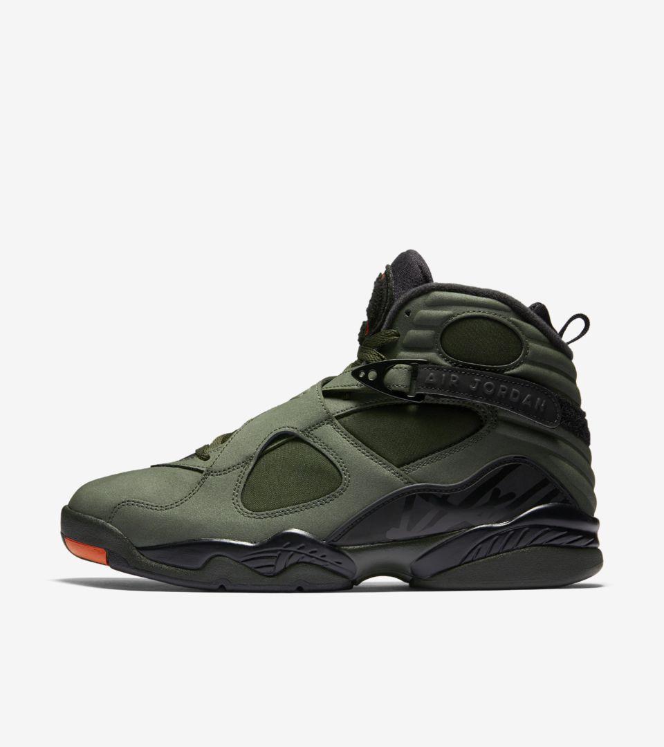 88b2526c94477 Air Jordan 8 Retro  Sequoia  amp  Max Orange . Nike+ Launch GB