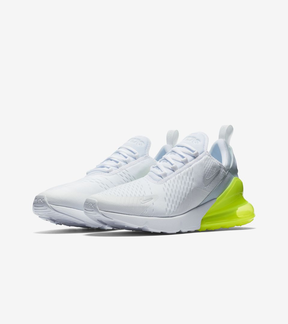 Nike Air Max 270 White Pack  Volt  Release Date. Nike⁠+ Launch FI a9f51f8d0