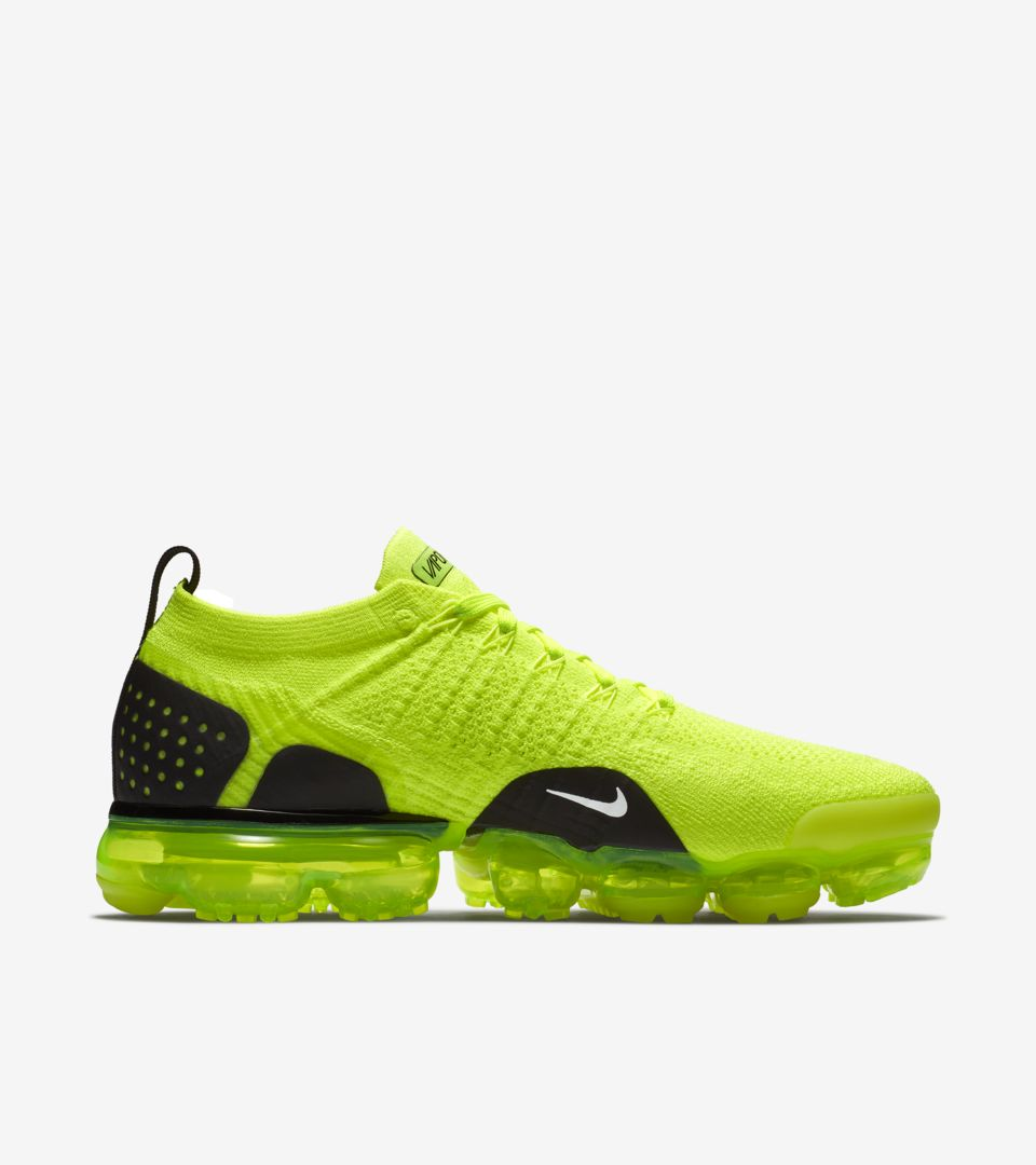 d00be782f86 Nike Air Vapormax Flyknit 2  Volt   White   Black  Release Date. Nike+  SNKRS