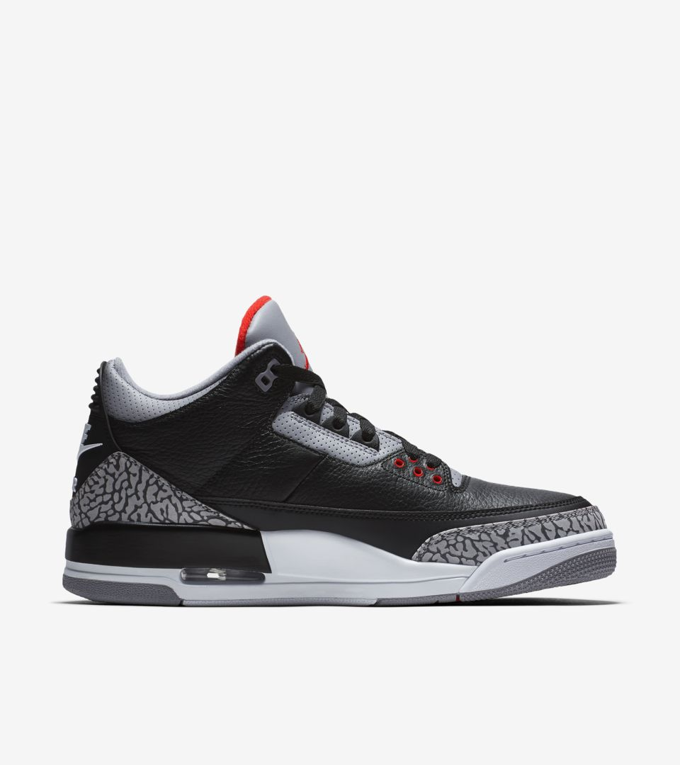 separation shoes 427cb b1ebb Air Jordan 3 Retro OG 'Black Cement' 2018 Release Date ...