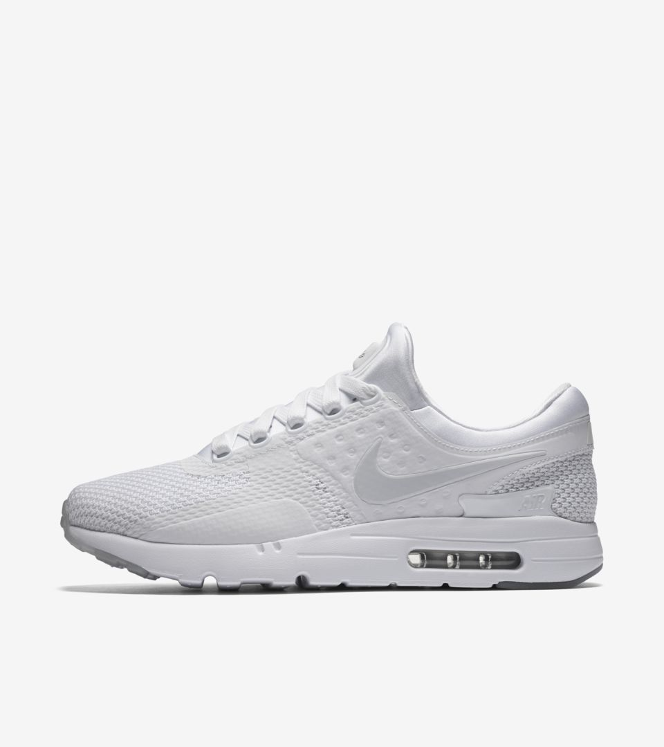 innovative design 0d099 291a1 Nike Air Max Zero 'Triple White' Release Date. Nike⁠+ SNKRS