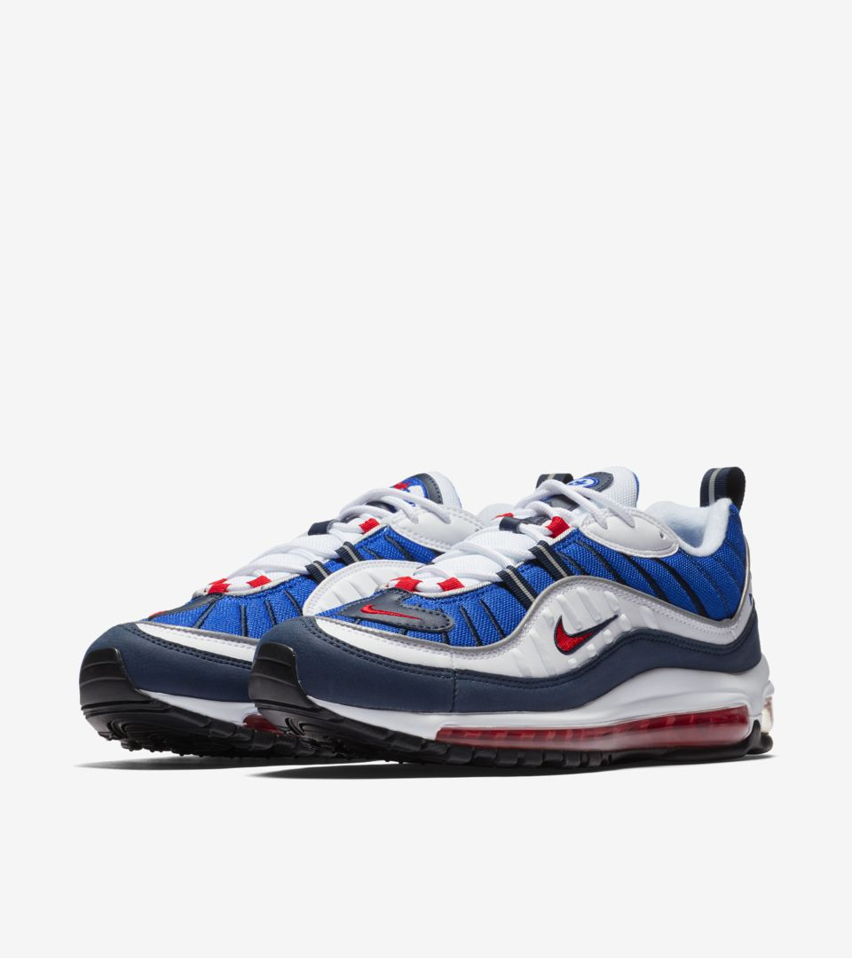 150ffe5591 Nike Air Max 98 'White & University Red & Royal Blue' Release Date ...