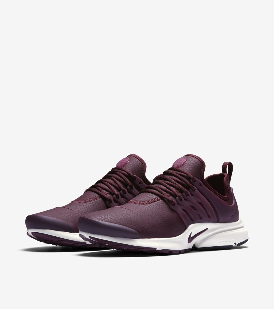 new styles 51205 484b2 Women's Nike Air Presto Premium 'Night Maroon'. Nike⁠+ SNKRS