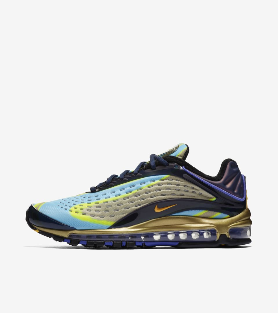 reputable site 5dd32 3e51c Nike Air Max Deluxe  Midnight Navy  amp  Laser Orange  amp  Persian Violet   Release Date. Nike⁠+ Launch GB