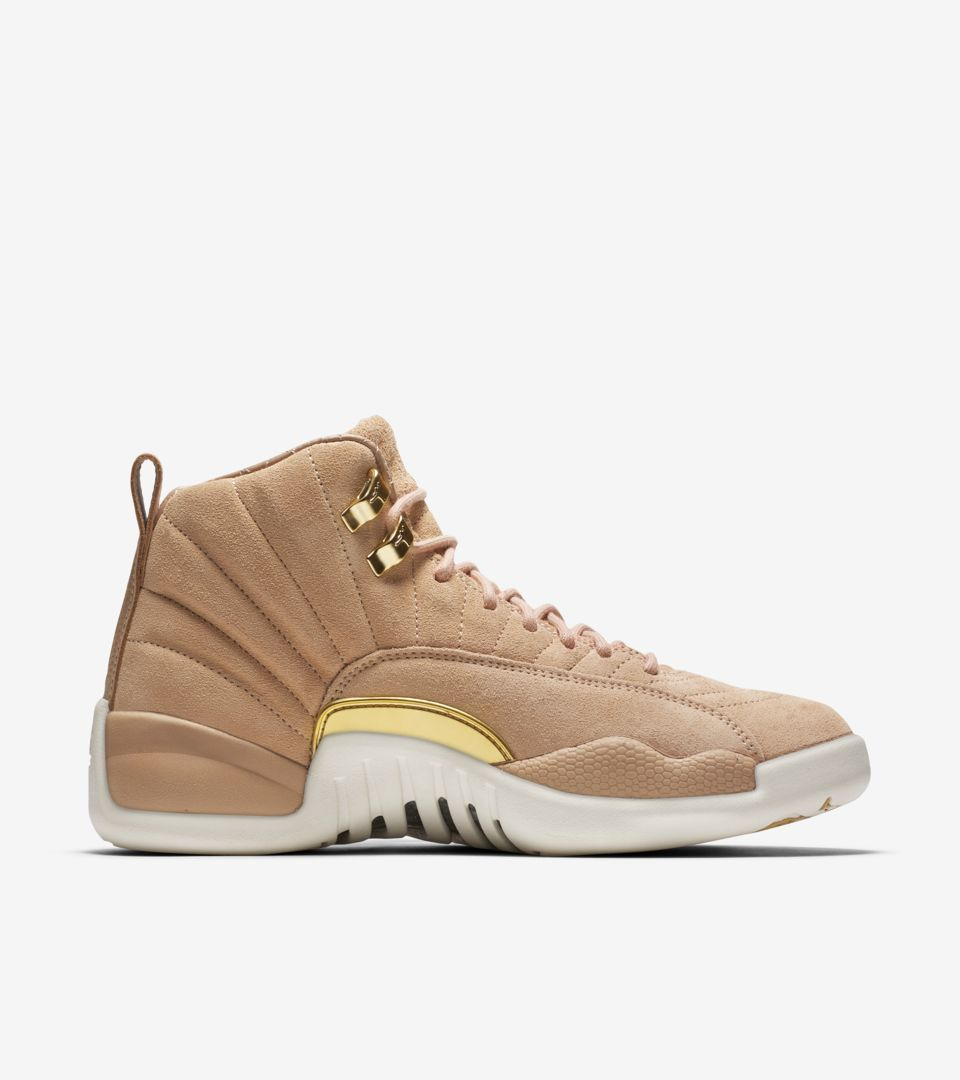 san francisco de678 68c1b Women's Air Jordan 12 'Vachetta Tan & Metallic Gold' Release ...