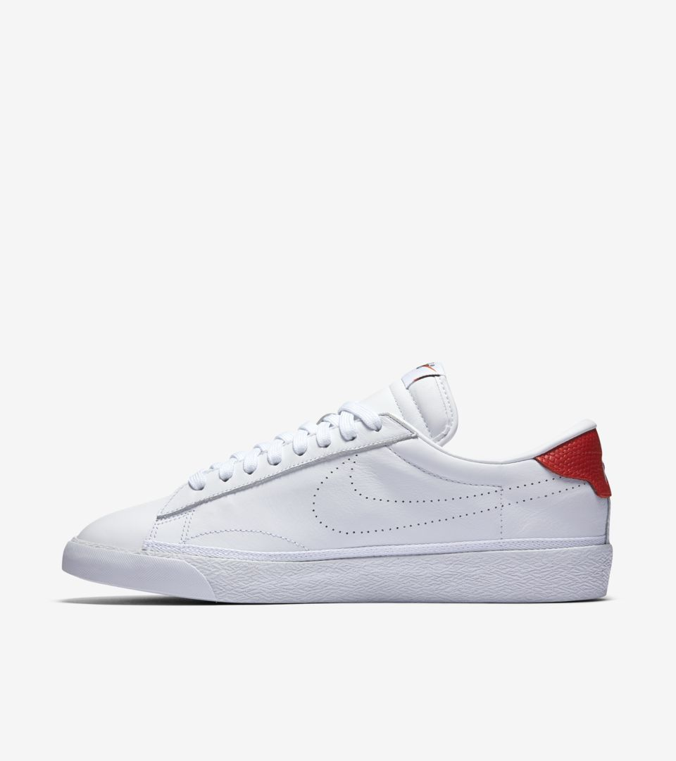 NikeLab x Fragment Zoom Tennis Classic  White   University Red ... 3cbbfda6c