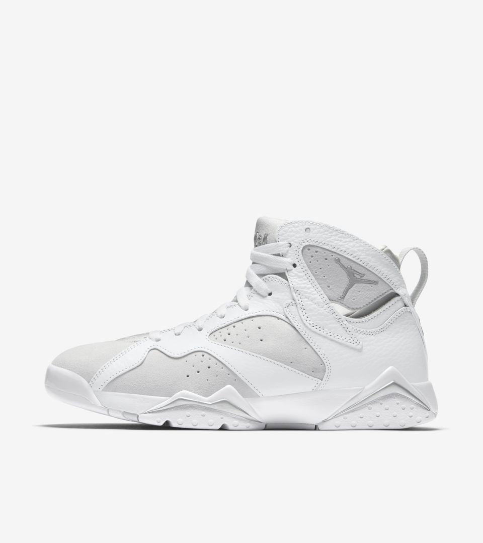 reputable site 4dca7 c88cc Air Jordan 7 Retro  White   Pure Platinum  Release Date. Nike⁠+ SNKRS