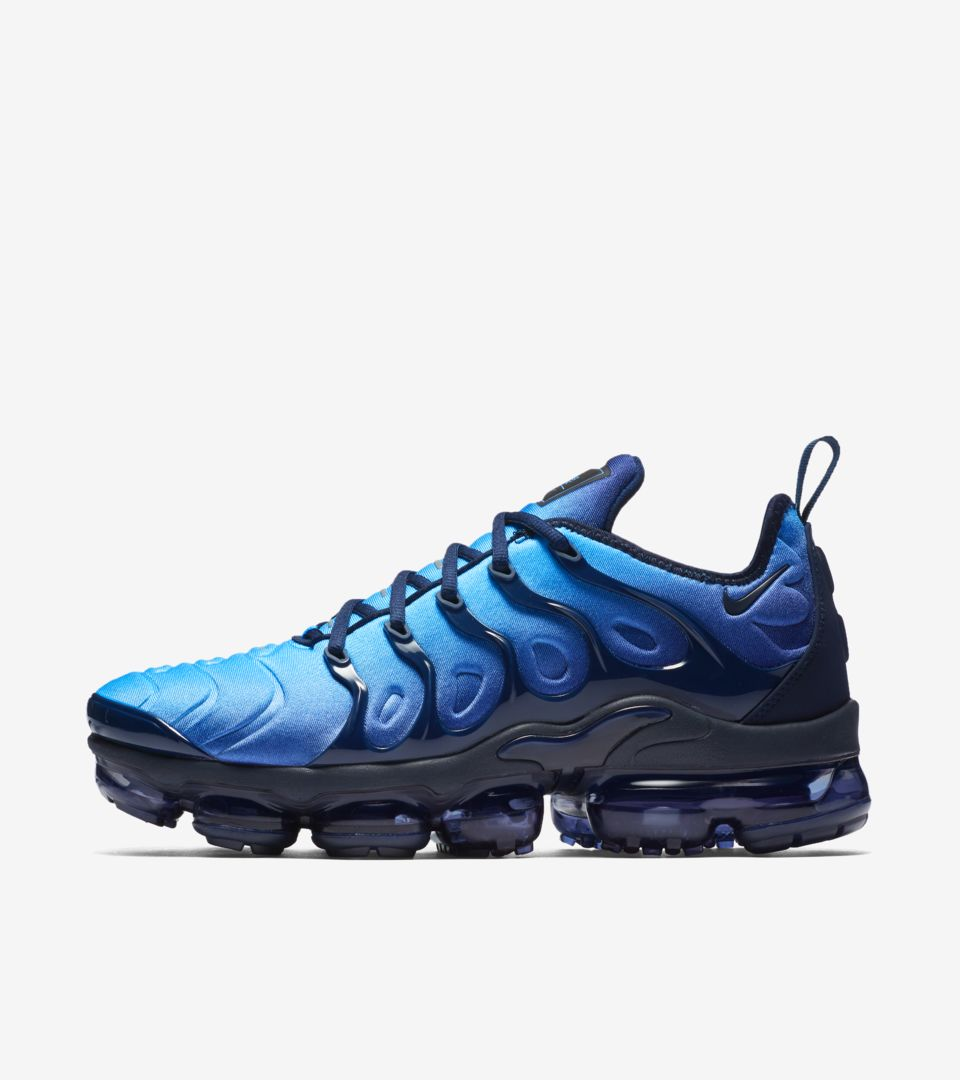 7ce0f79a5f52b Nike Air VaporMax Plus  Obsidian  amp  Photo Blue  Release Date. Nike+  Launch IE