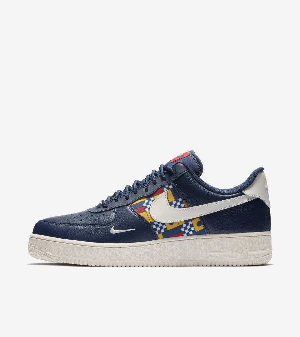 official store nike air force 1 navy blue gold b1b92 6af01