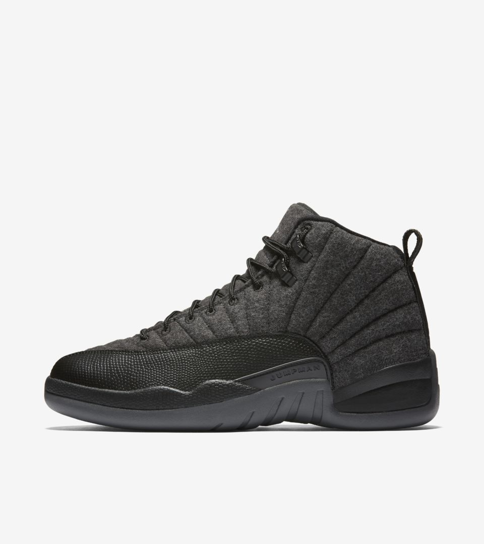 best service 14408 3469e Air Jordan 12 Retro Wool 'Dark Grey & Black' Release Date ...