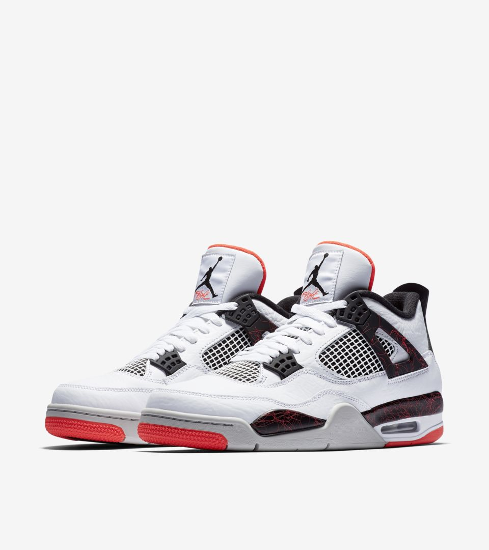 091dd5ec502 Air Jordan 4  White  amp  Bright Crimson  amp  Black  Release Date ...